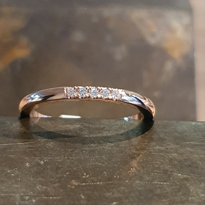 Bernstein rose gouden ring 0.05crt