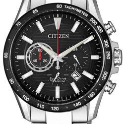 Horloge Eco-Drive Chrono Titanium Zwart