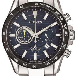 Horloge Eco-Drive Chrono Titanium Blauw