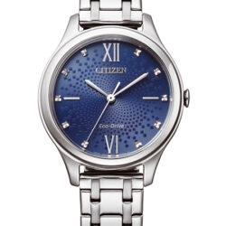 Horloges dames Eco-drive Blauw-wit Bicolor