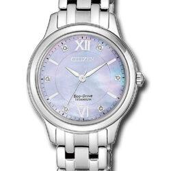 Horloges dames Eco-drive Titanium parelmoer