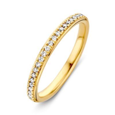 Geelgouden ring 0.17crt