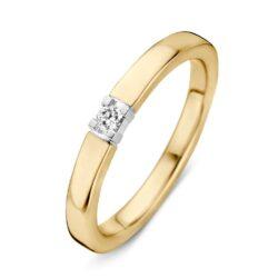 Bicolor gouden ring 0.05crt