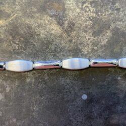 Witgouden armband 19,5cm