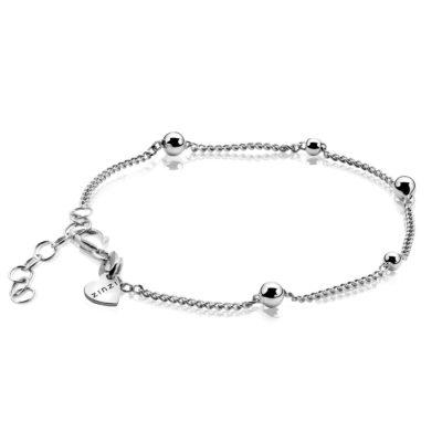 ZINZI zilveren fantasie armband 17-20 cm