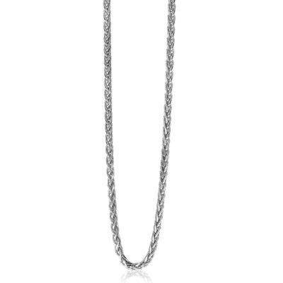 ZINZI zilveren schakelcollier palmier 2mm breed 45cm