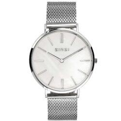 ZINZI Retro horloge parelmoer 38mm extra dun