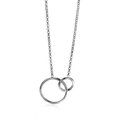 Zinzi zilveren collier ronde vormen 42-45cm