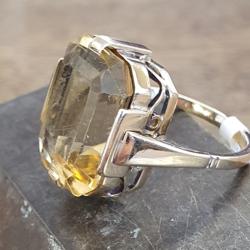 Geel gouden ring met een citrien maat 17,5