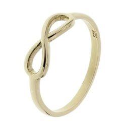 Geelgouden infinity ring