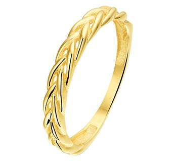 Geelgouden ring vossestaart 3mm