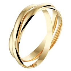 Geelgouden ring cartier stijl 3 in 1