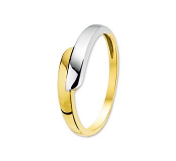 Bicolor gouden ring