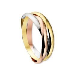 Tri color gouden ring cartier stijl 3 in 1