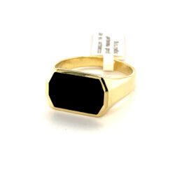 Occassion gouden zegelring onyx
