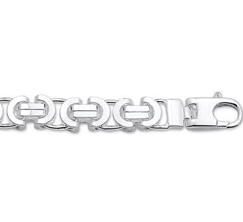 Zilveren armband met koningsschakel