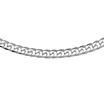Zilveren collier met geslepen gourmet schakel