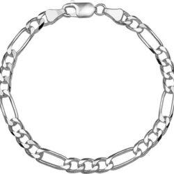 Zilveren figaro armband breedte 5mm