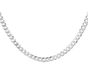 Zilveren gourmet collier