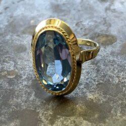 Gouden ring aquamarijn