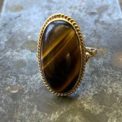 Gouden ring tijgeroog