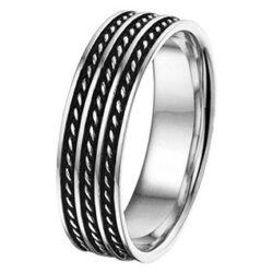 Zilveren geoxideerd ring massief