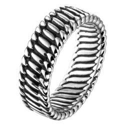 Zilveren geoxideerde ring 8mm massief Zilveren geoxideerde ring 8mm massief