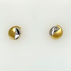 Bicolor gouden oorknoppen