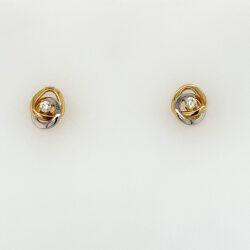 Bicolor oorknoppen zirkonia