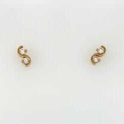 Gouden oorknoppen zirkonia