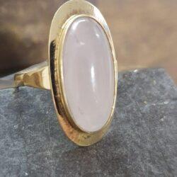 gouden ring rozenkwarts