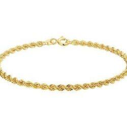 Gouden dames armband koord schakel 2.7 mm breed