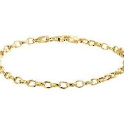 Gouden armband anker schakel 3,5 mm breed